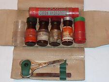 vintage ancien TROUSSE de SECOURS flacon fiole STRASBOURG pharmacie CH.DIRHEIMER