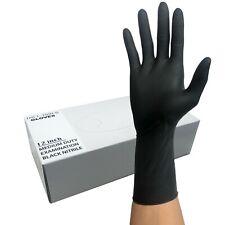 "Nitrile | Heavy Duty | Gloves | 12"" Length | 8mil | Black | FAST SHIP"