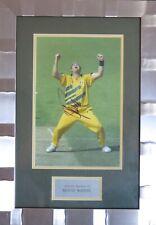 Shane Warne Signed Cricket Photo Display Framed AFTAL RD#175 COA