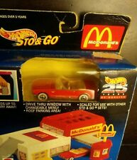 Mattel Vintage 1994 Hot Wheels Sto & Go McDonald's w/ Die Cast Red Mustang - NIB