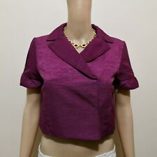 C464 - Max & Co Red Violet Soft and Smooth Corduroy Cropped Jacket