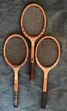 Lot Of Three Tennis Racquets. Vintage Wooden.  Great Shape. Wilson & Bancroft