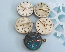 Slava Automatic Vintage USSR movement 5 pieces with dial for parts Wristwatch