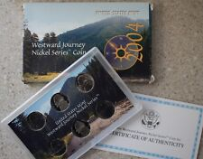 2004 Us Mint Westward Journey Nickel Series 6 Coin Set with original Box and Coa