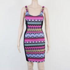 TopBrandz Womens Size 8 Aztec Multi Colour Stretch Fit Dress