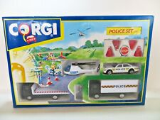 CORGI 92385 'JAGUAR, HELICOPTER & RECOVERY LORRY POLICE SET'. MIB/BOXED