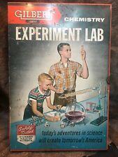 Vintage Gilbert Chemistry Experiment Lab #12014. Original Paperwork! 1950s!