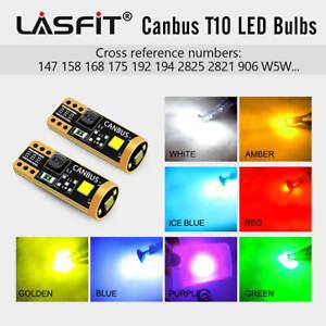 2x LASFIT T10 192 193 194 2825 LED Interior Door Light/Dome/Map Bulb Multi-Color
