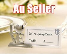 10x Love Place Card Holder Menu Number Nametag Name Tag Stand Wedding Party Bulk