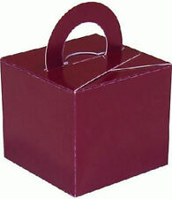 10 Burgundy Balloon Boxes - Gift Weights Table Wedding Kids Decoration