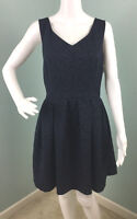 NWT Womens bar III Sleeveless Floral Brocade Navy Blue Dress Size L Large