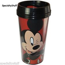NEW DISNEY 16oz MICKEY MOUSE ADULT TRAVEL TUMBLER PS DOUBLE WALLED ZAK! (RH)