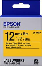 Cinta Etiquetadora Epson 811722 1 mm X 9m color negro y amarillo Lk-4ybp