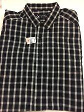 NWT Control Sector Men's Black Nova Woven Shirt LS Size XXXL Casual Plaid