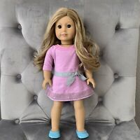 """American Girl Truly Me Doll 18"""" #24 Light Wavy Blond Hair Brown Eyes Freckles"""