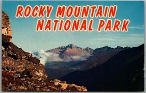 ROCKY MOUNTAIN NATIONAL PARK Colorado Postcard Panorama View Plastichrome c1960s