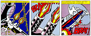 As I Opened Fire A1 by Roy Lichtenstein High Quality Canvas Print
