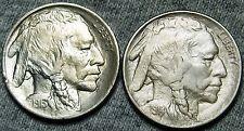 1913 + 1914 Buffalo Nickel US Coins --- GEM BU+ LOT --- #W070