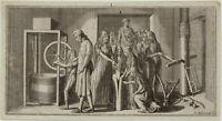 TISCHLER LEHRLING Orig Chodowiecki Kupferstich um 1805 Auszubildende Handwerk