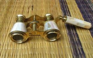 Brass Binocular Mother of Pearl Lorgnette Binocular Nautical Spyglass Lot of 5