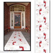 10PD Halloween Horror Sangue layout pavimento Gore Bianco Pavimento Runner Decorazione