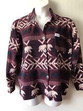 Women's GLACIER GEAR OUTDOOR Burgundy flannel jacket coat top button down SZ XL