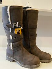 Caterpillar Brown Fur Lined Boots Size 6 NEW