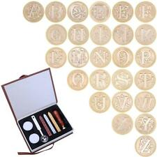 Retro Vintage Initial Alphabet Wax Seal Stamp Kit Sealing Wax Letters Invitation