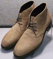271728 MSBT50 Men's Shoes Size 9.5 M Beige Suede Lace Boots Johnston & Murphy