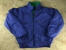 Vintage Patagonia Jacket Fleece Lined Blue Shell Green L Made in USA Coat