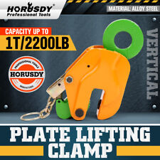 1 TON Vertical Plate Grab Clamp Dog Steel Grip Lifting Sling Lifter 1000Kg