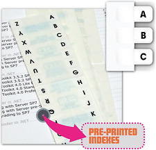 """New listing Redi-Tag Pre-Printed Index Tabs, A To Z, Permanent Adhesive, 7/16"""" X 1"""", 104 Tab"""