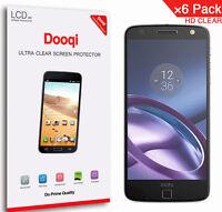 6X Dooqi HD Clear LCD Screen Protector Shield Guard For Motorola Moto Z Droid