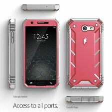 Poetic Revolution Pink Case [Heavy Duty] Protection For Galaxy J3 / J3 Emerge
