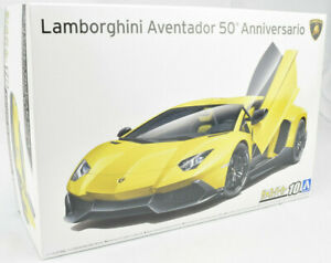 Aoshima 2013 Lamborghini Aventador 50th An. #10 1/24 Plastic Model Car Kit 05982