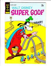 """Walt Disney Super Goof No 23-1972- """"Railroad Tracks / Bird Crossing Cover!  """""""