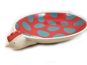 "Free range Hen Country Kitchen ceramic 14"" Chip Platter New Clay Art"