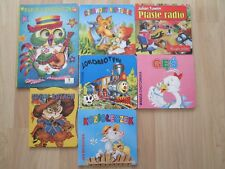 POLISH BOARD BOOK LOT 7~Kot w Butach~Ges~Ptasie radio~LOKOMOTYWA~Papuga Spiewacz