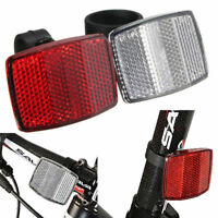 New Bicycle Bike Handlebar Mount Red / White Safe Reflector Front Rear Warning