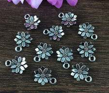 Wholesale 16pcs Tibet silver Sunflower Charm Pendant beaded Jewelry Findings P32