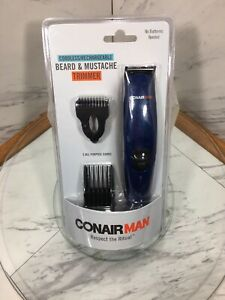 Conair Man Beard And Mustache Trimmer Electric Cordless Black 5 Position Comb