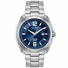 Citizen Chandler Eco-drive movimiento Esfera Azul Reloj para hombres BM7080-54L