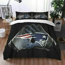 New England Patriots Bedding Set 3PC Of Soft Duvet Quilt Cover Pillowcase Gifts