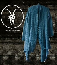 ALL SAINTS Grey wool, long asymmetric cardigan - UK 8 -10