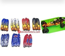 OUTWEARS SHOCK WEARS FLAME SHOCK COVER FOR HPI BAJA 5B/5T/5SC (BLUE)
