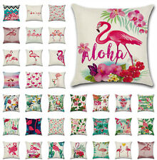 """UK New Flamingoes Tropical Plant Cushion Cover Throw Pillow Cases Home Decor 18"""""""