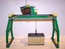 LEGO® Eisenbahn Containerverladekran aus 7939 + Container - NEU A