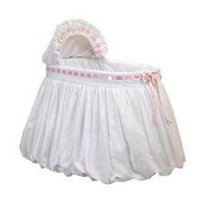 Baby Doll Bedding Pretty Ribbon Bassinet Bedding Set, Pink