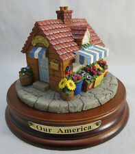 "OUR AMERICA Gift Flower shop FLORIST Candle Topper with Base Yankee 3""1/2 tall"