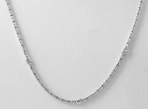 "3.05Ct Natural Real Round Tennis Diamond Necklace 18k Gold White E VS1-VS2 17"""
